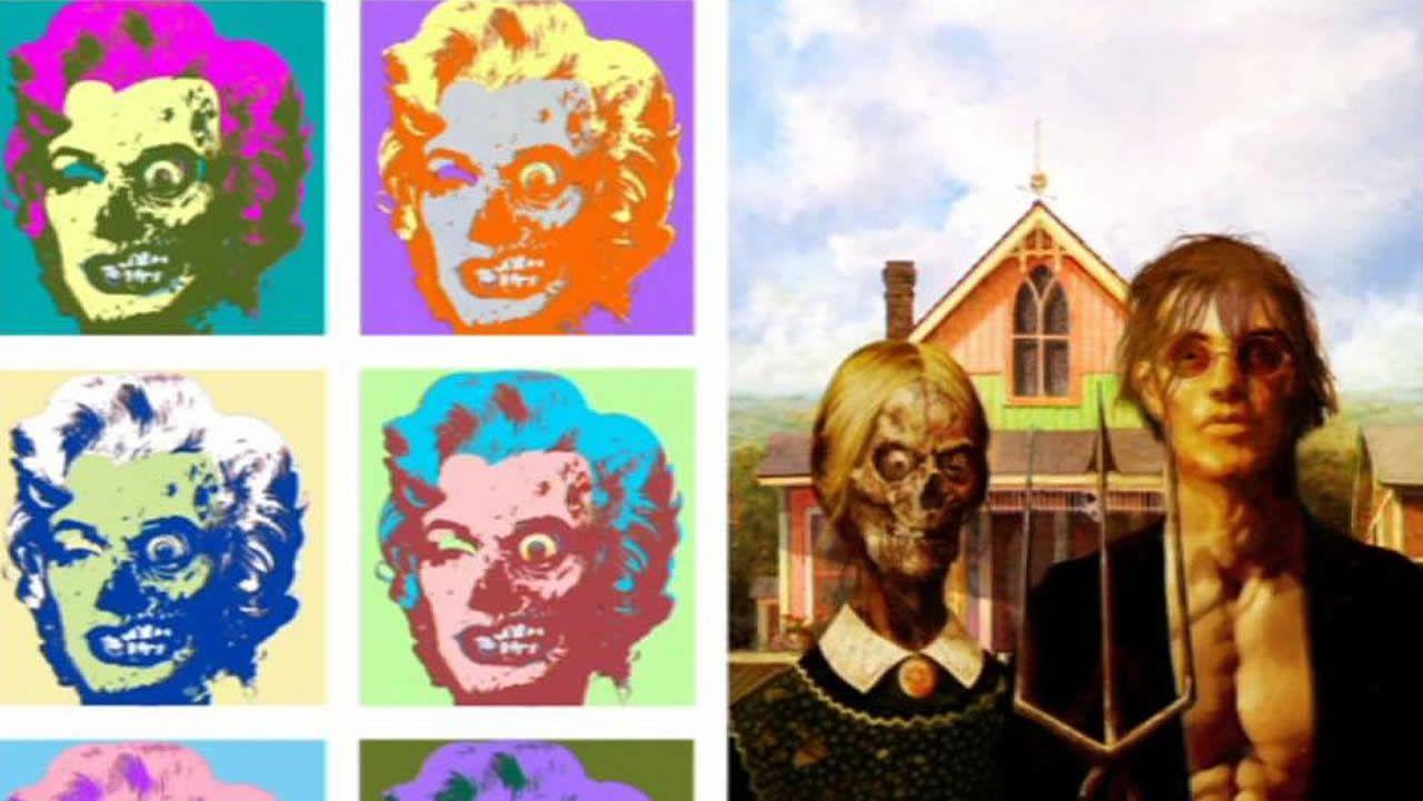 El cómic reinterpreta la pintura más popular.Loquillo durante su actuación en el festival Metrópoli de Gijón