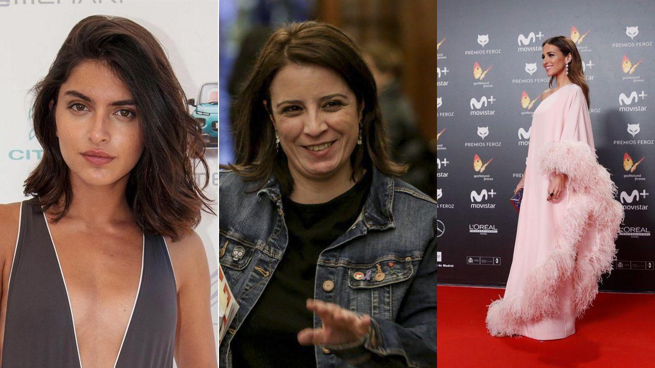 La modelo Lucía Rivera Romero, la socialista Adriana Lastra, y la actriz Paula Echevarría, todas ellas asturianas