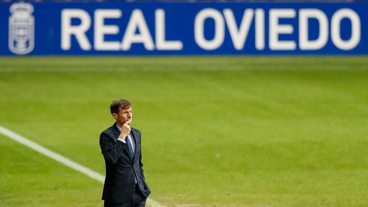 Javi Hernandez Leganes Real Oviedo Carlos Tartiere.José Ángel Ziganda, en el Carlos Tartiere