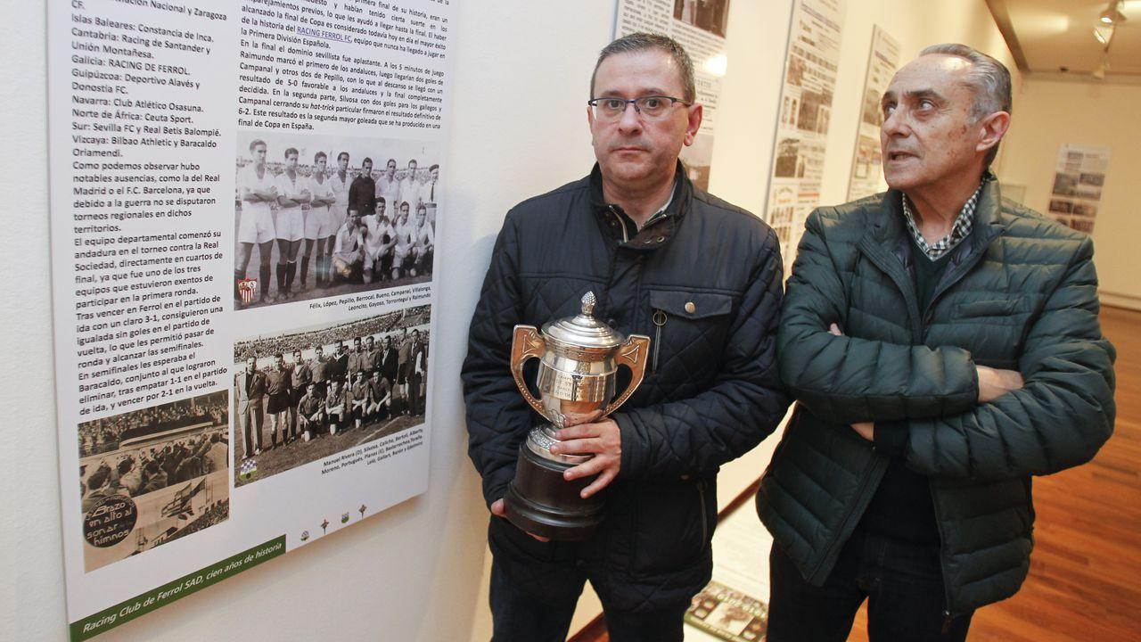 Inaugurada una exposición sobre el Centenario del Racing de Ferrol