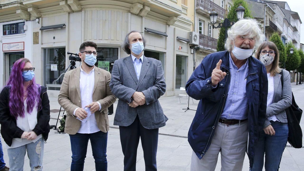 Beiras (en el 2014 como portavoz de AGE), Ana Pontón y Francisco Jorquera, tres de los últimos candidatos a la presidencia de la Xunta por el BNG