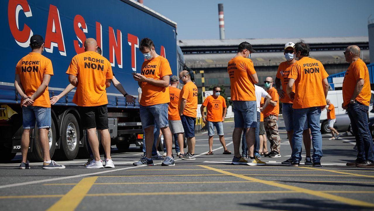 Movilización esta mañana en A Coruña