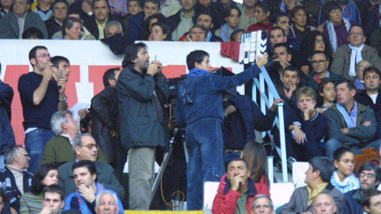 Rodaje de Ilegal en Balaídos el 28 de octubre del 2001