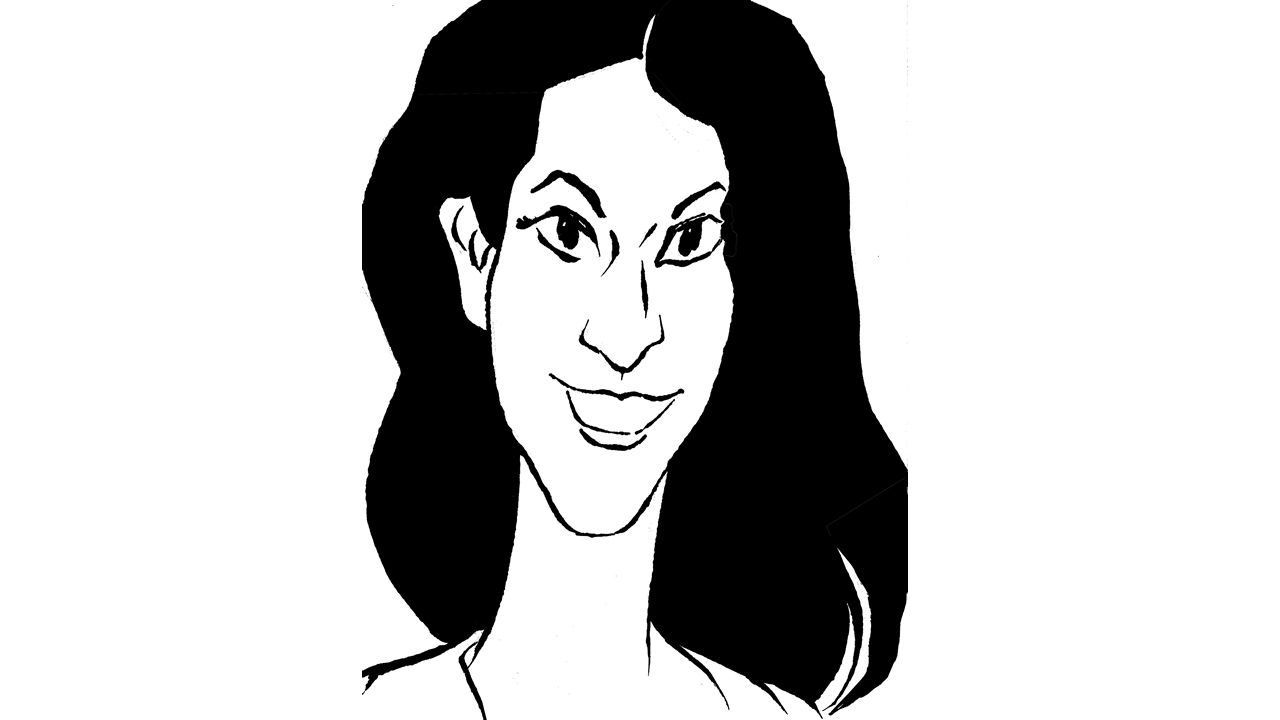 Caricatura Diana Quer de Siro.Agustín Martínez Becerra, abogado de tres de los cinco acusados