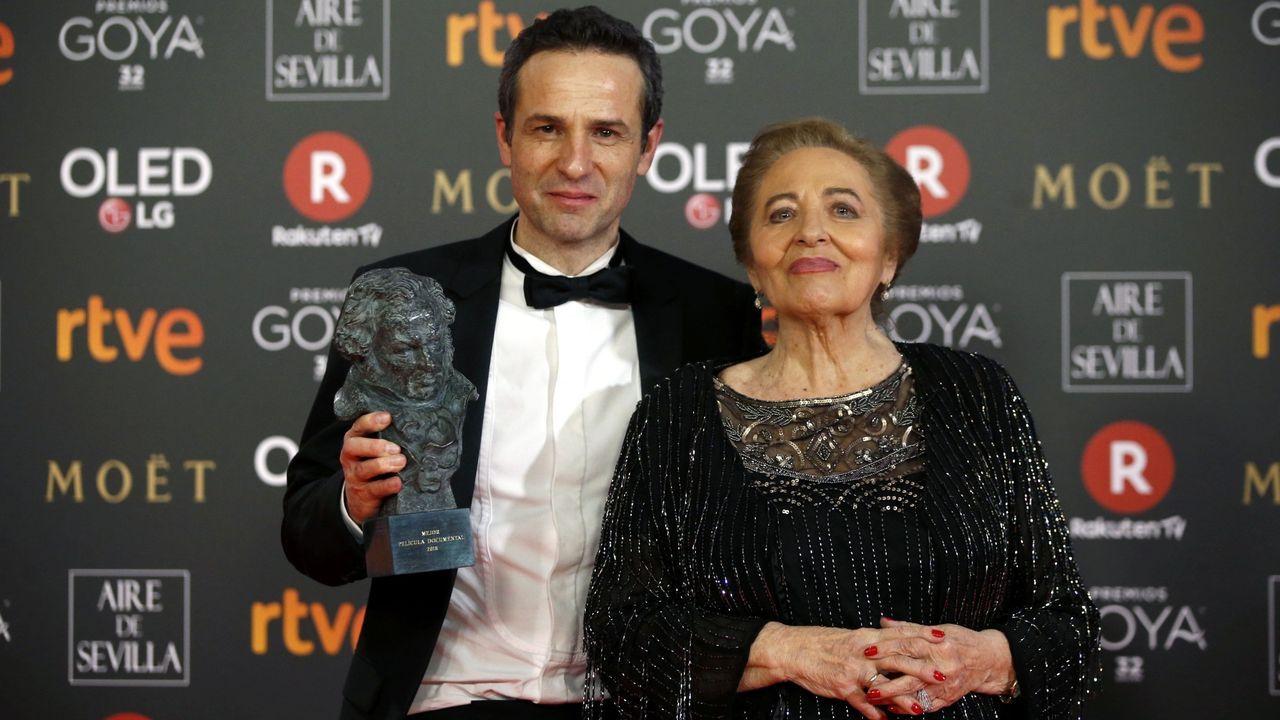 Julita Salmerón con su hijo Gustavo, ganadores del Goya por «Muchos hijos, un mono y un castillo»
