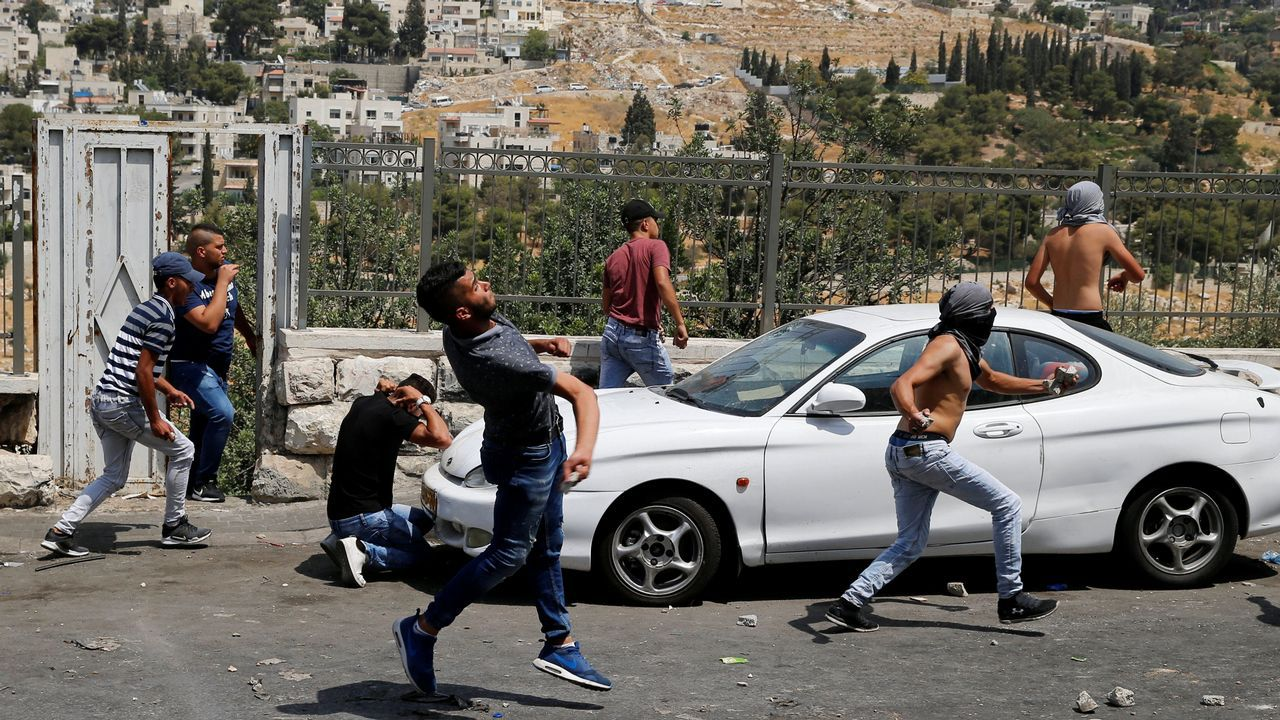 Protestas en el exterior de la Ciudad Vieja de Jerusalén