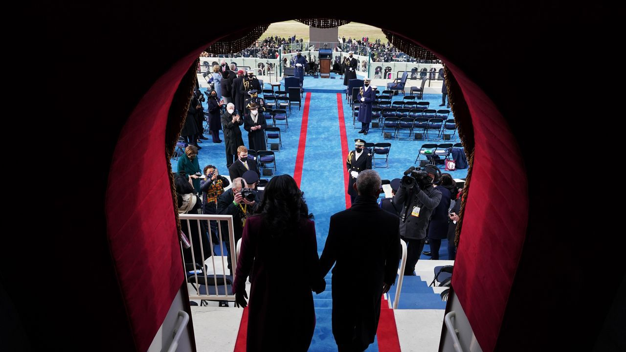 El hasta ahora vicepresidente Mike Pence y su esposa Karen