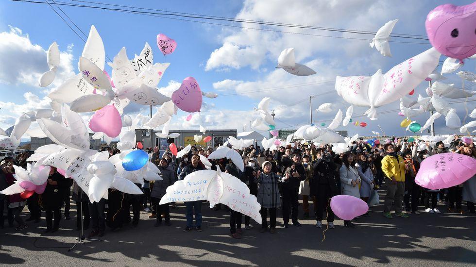 Homenaje a las víctimas en el sexto aniversario del tsunami ocurrido en Fukushima el 11 de marzo del 2011