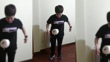 La alcaldesa de O Rosal chuta en el desafío con un rollo de papel higiénico