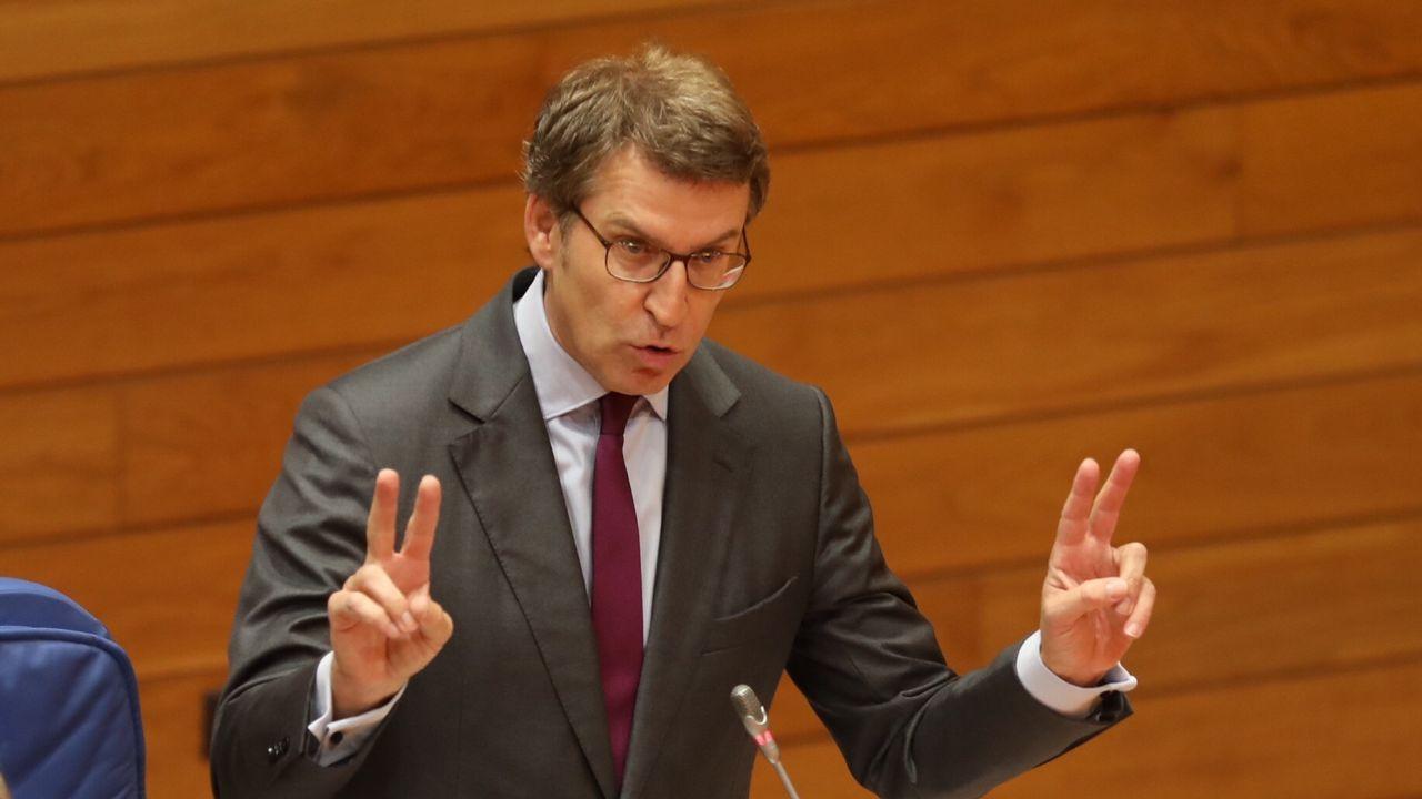 Feijoo se resiste a revelar su futuro y se remite a la sesión del día 20 en el Parlamento de Galicia.Caballero se encontró con la comisario de Política Regional, la rumana Corina Cretu