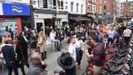 Zona de pubs en Londres a principios del mes de julio