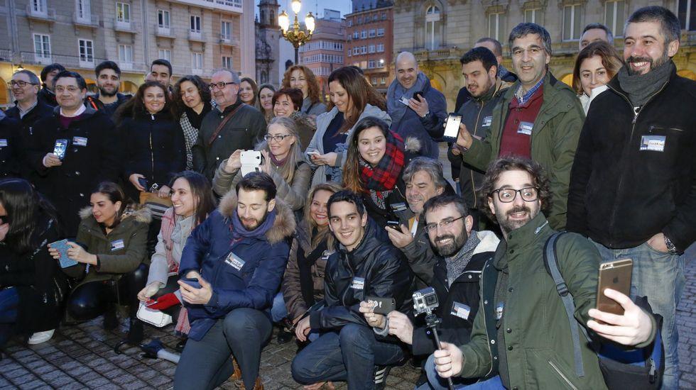 Tuiteros coruñeses en la #QuedadaCoruña del año pasado