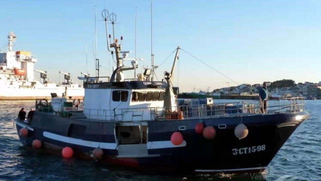 En la imagen, el Gure Leire, un pesquero con base en el puerto vasco de Ondarroa, traía la droga de Sudamérica