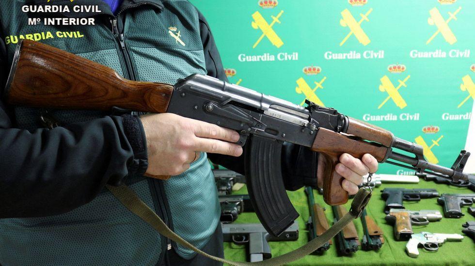 Armas retiradas del mercado negro por la Guardia Civil