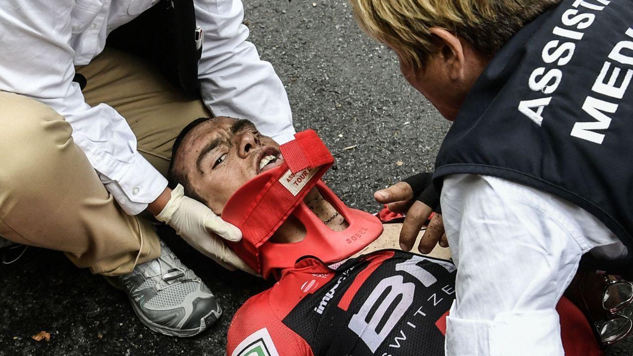 La brutal caída de Richie Porte