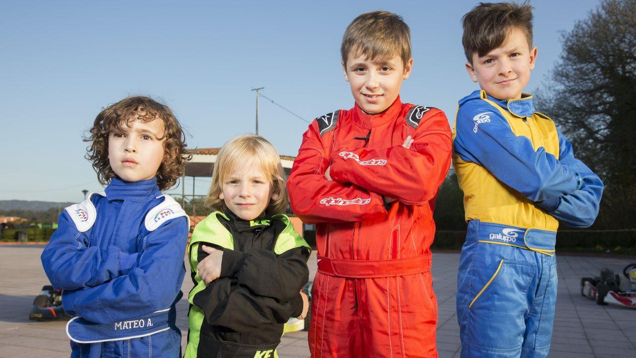 Cuatro bergantiñáns en el campeonato gallego de karting