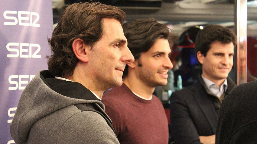 Pedro de la Rosa con Carlos Sainz