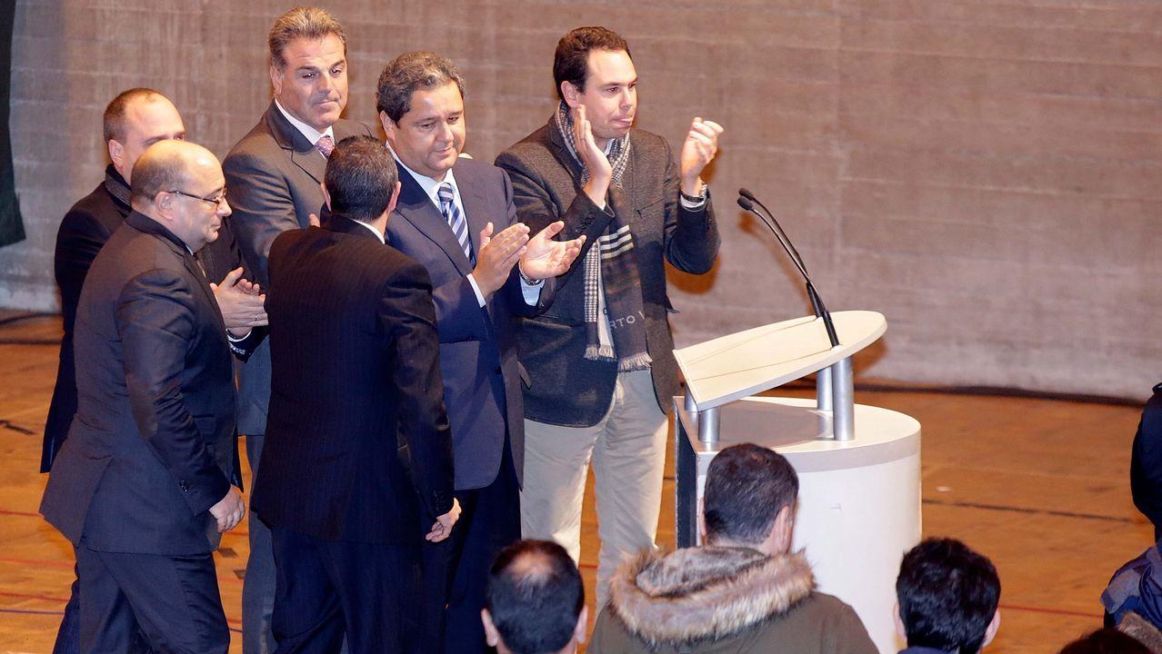 Tino Fernández y su equipo el día que se hicieron cargo del consejo de administración del club