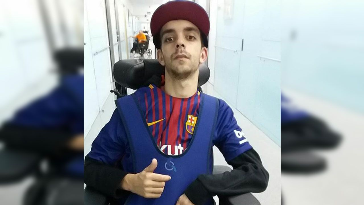 Germán Fernández, en la clínica barcelonesa donde recibe tratamiento