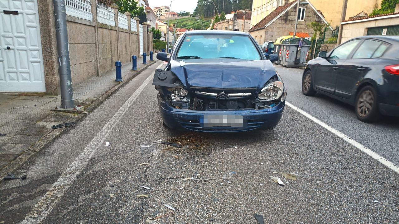 Estado en el que quedó uno de los vehículos implicados en el accidente.