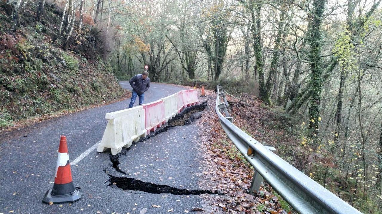 En el tramo afectado se abrirá un carril provisional para facilitar el paso a los vecinos de A Ferrería