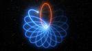 Las órbitas de la estrella alrededor del agujero negro