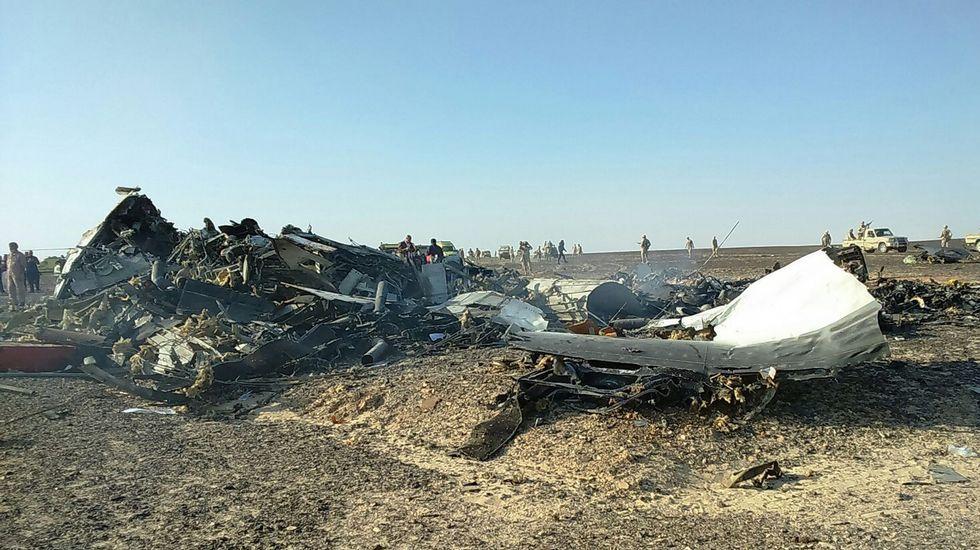 Tragedia aérea rusa en Egipto.Restos del avión estrellado en Sudán del Sur