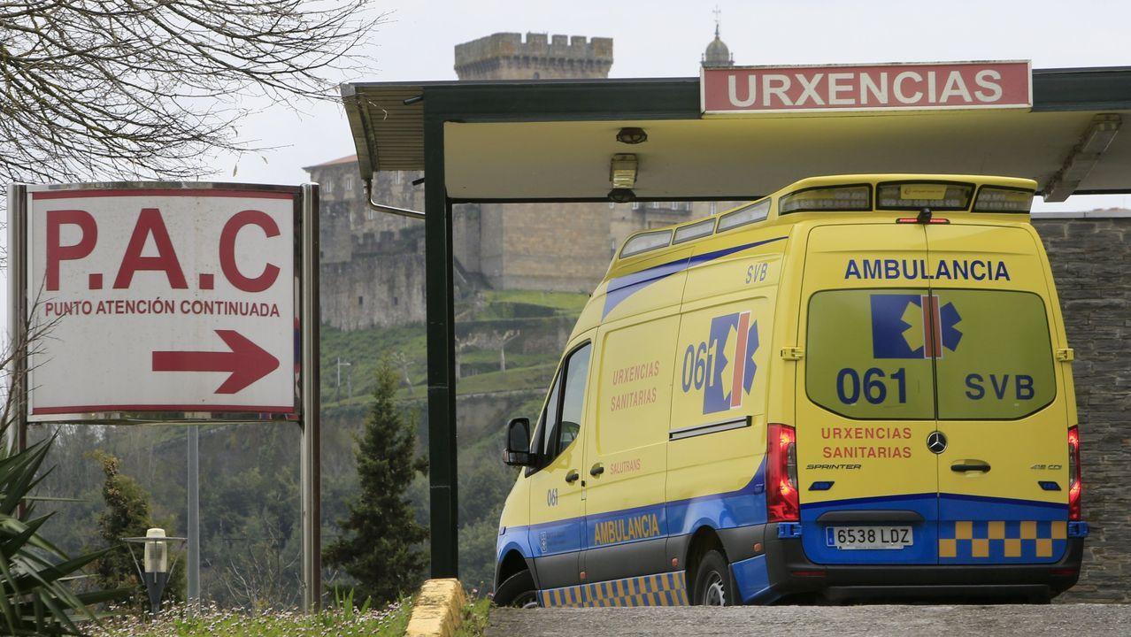 Entrada a urgencias en el hospital de Monforte