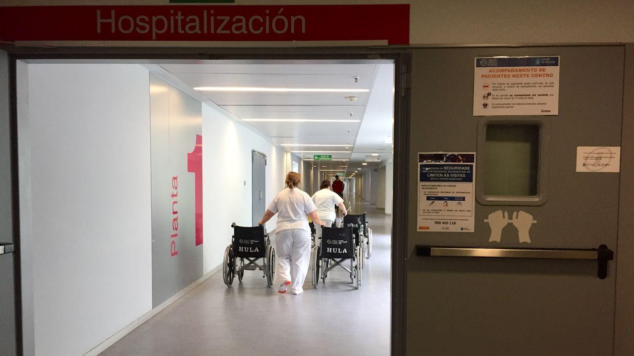Enfermeras del HULAaplauden a los pacientes que reciben el alta y cantan también el cumpleaños feliz.Nueva zona de urgencias pediátricas habilitada en el HULA