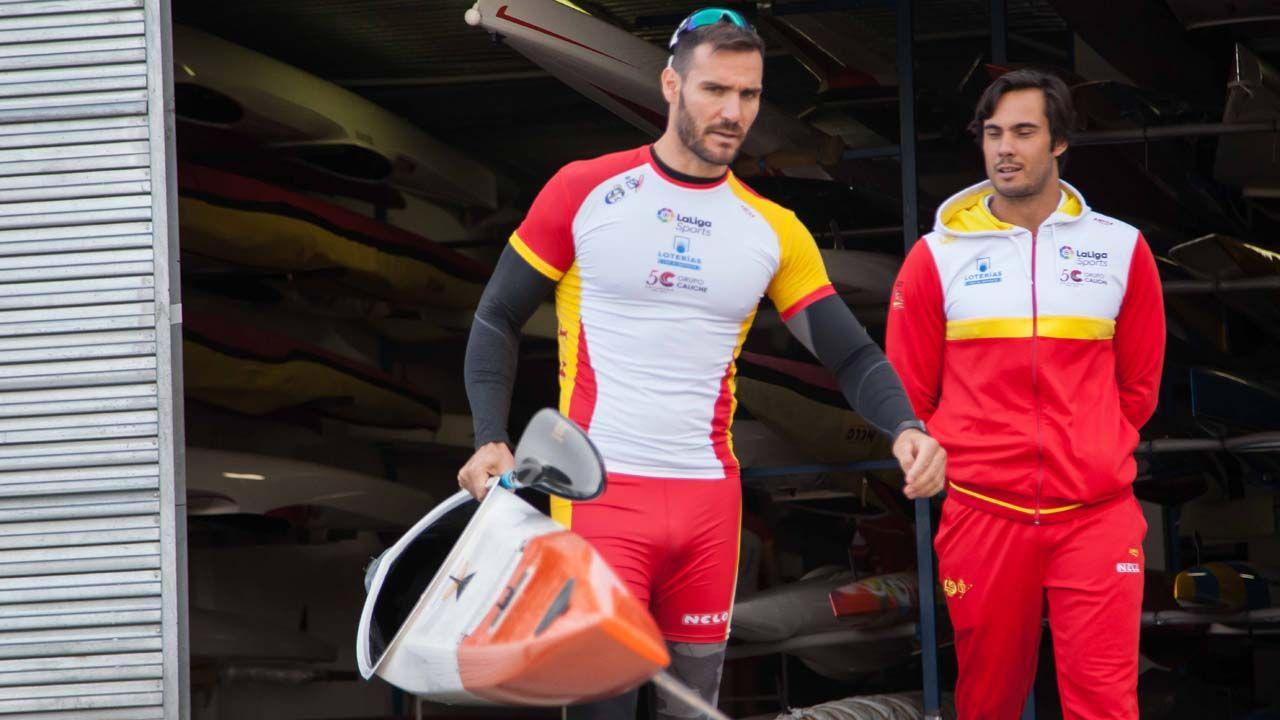 Craviotto y Rodrigo Germade, en Trasona