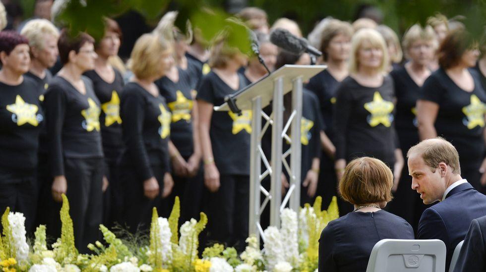 El príncipe Guillermo asistió a la ceremonia en homenaje a las víctimas en Hyde Park