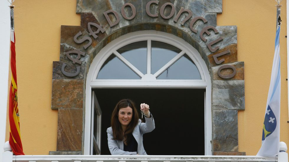 Mayra García, alcaldesa de Trabada