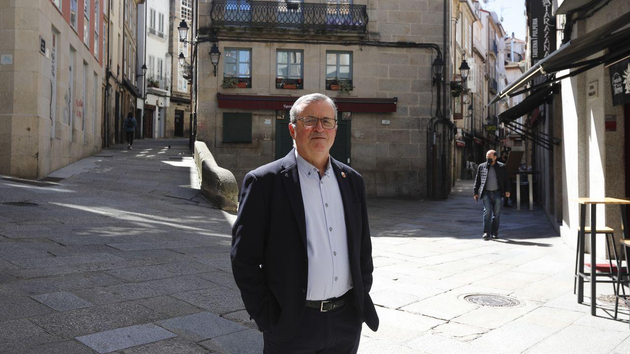 Clausura de la Feira do Viño do Ribeiro.Rodríguez vivía en la rúa dos Fornos, aunque su casa también daba hacia la rúa Pizarro