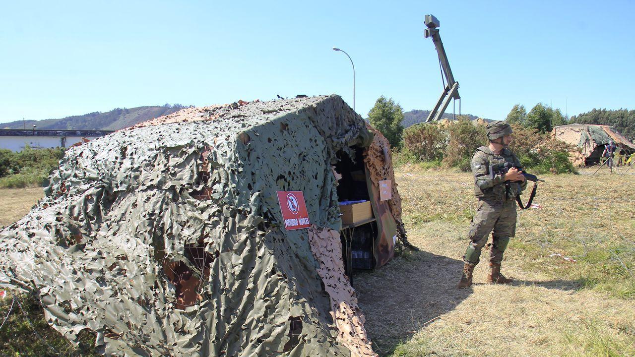 Mando de operaciones del Ejército de Tierra en la antigua estación de radio de Mandiá