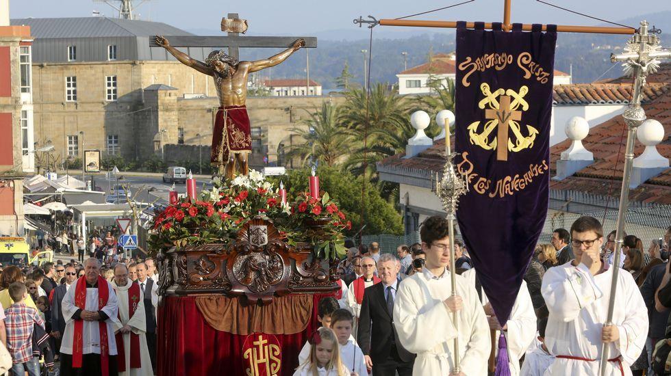 Procesión del Cristo de los Navegantes, en Ferrol