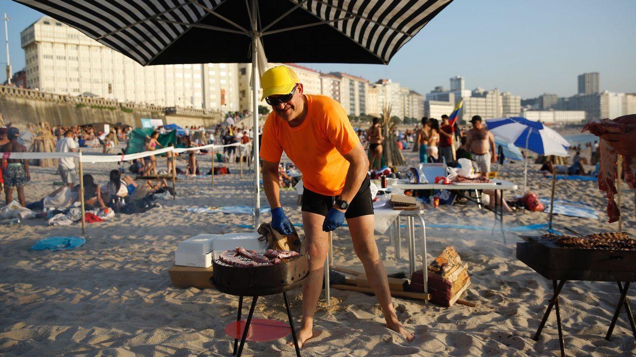 Fuego y playa para la fiesta más grande
