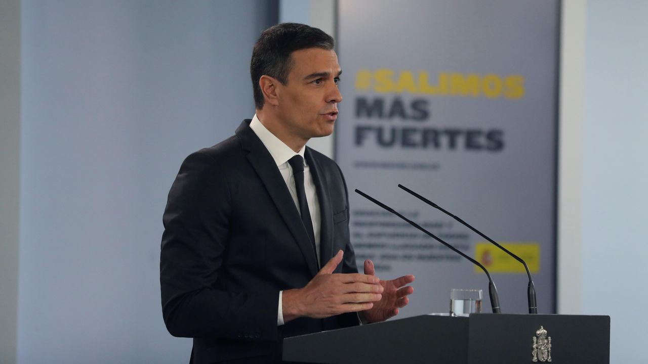 Sánchez comparece tras plantear a los presidentes autonómicos una nueva prórroga.Pedro Sánchez, durante la videoconferencia con los presidentes autonómicos