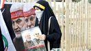 Una mujer iraquí, en una protesta contra EE.UU. por el primer aniversario de la muerte de Soleimani