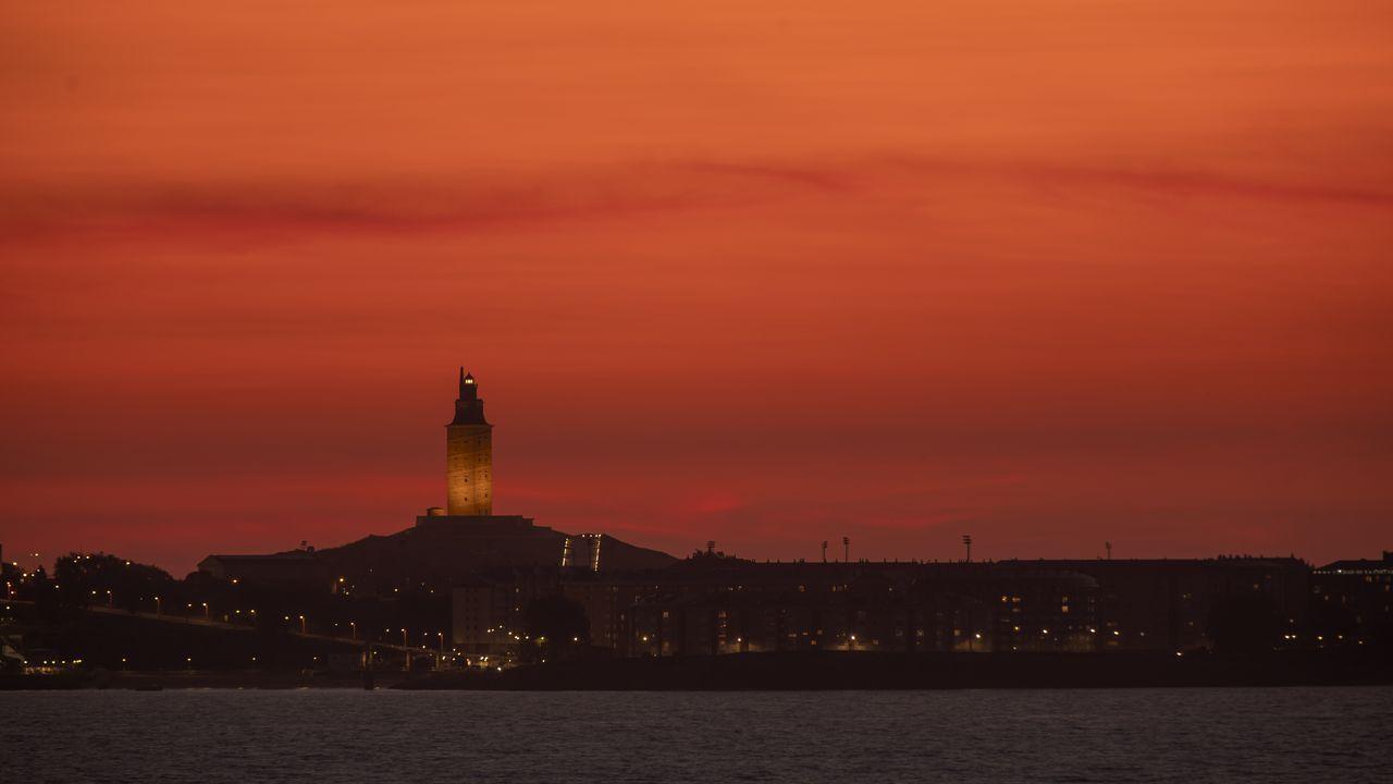 Atardecer en A Coruña este pasado domingo