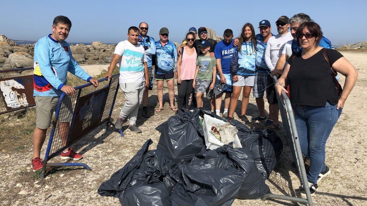 El club de pesca Illas Cíes llevó a cabo una limpieza semejante hace tiempo
