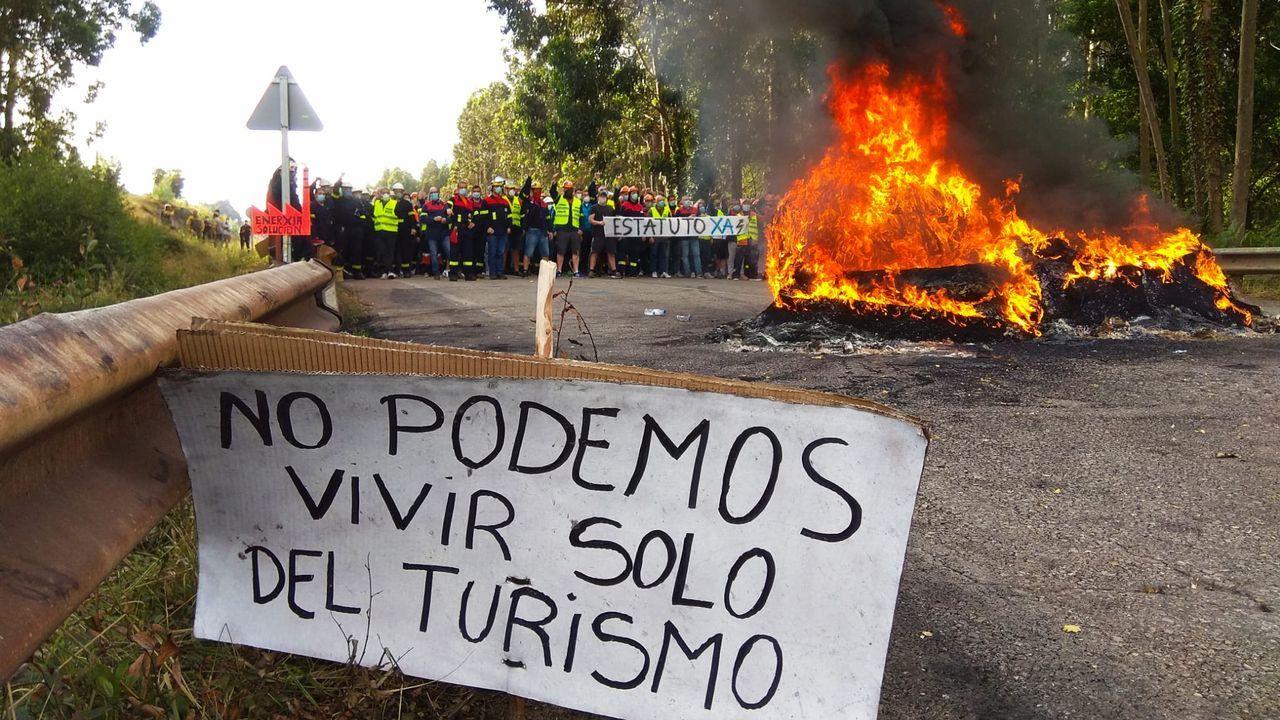 Nueva jornada de protestas en Alcoa San Cibrao