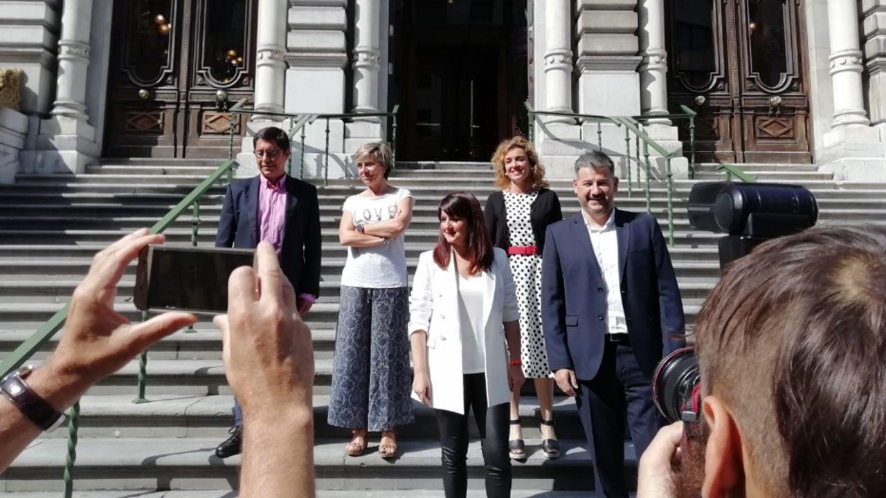 El grupo parlamentario de Ciudadanos en el parlamento asturiano