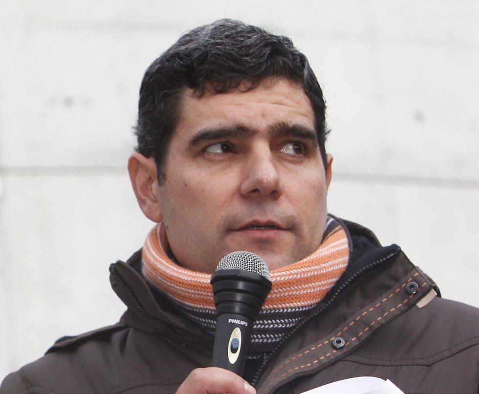 O promontorio de Castro Candaz, emerxido do encoro de Belesar en maio do 2011.