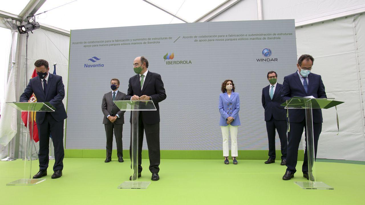 El regidor de Ferrol (en la imagen) visitó las instalaciones acompañado de otros alcaldes de la Mancomunidad