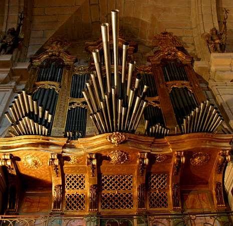 El órgano de la colegiata de Iria-Flavia, en Padrón.