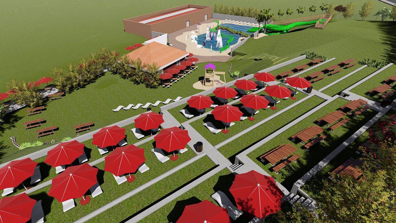 Infografía del futuro parque acuático de Corvera