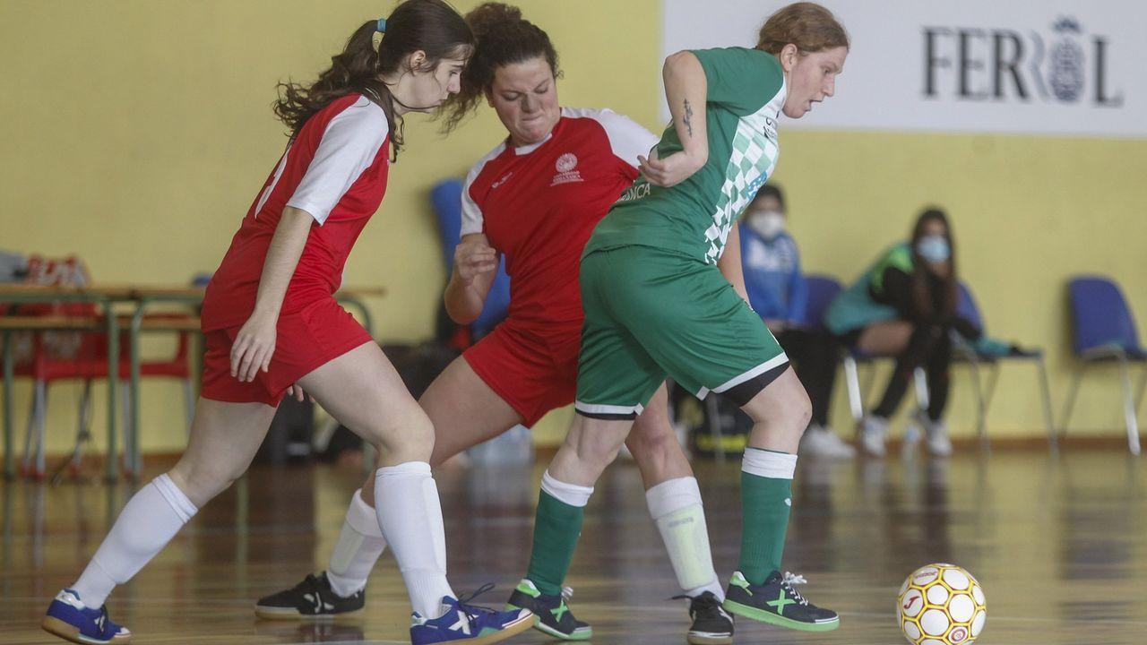 O Parrulo se despide de la Primera División de fútbol sala.Imagen del Ourense Envialia en un partido en Os Remedios, esta temporada