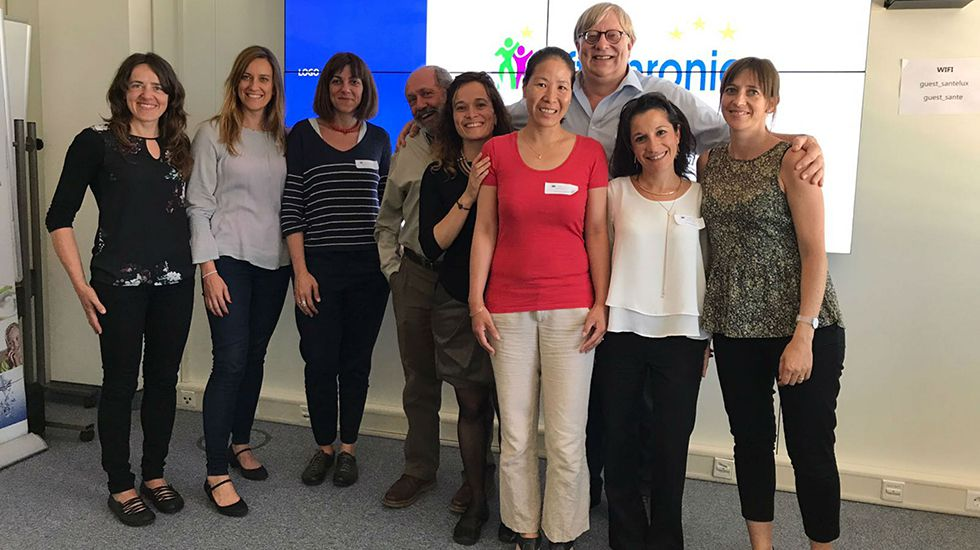 Profesionales en el servicio de Cardiología del HUCA.Lanzamiento de Effichronic en Luxemburgo