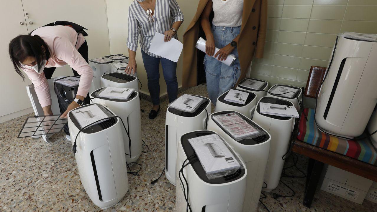 Purificadores de aire adquiridos por el ANPA del CEIP Virxo do Carme de Burela