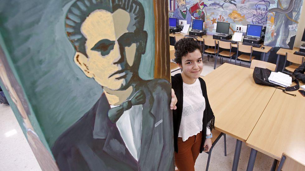 educacionh.En el colegio Manuel Rivero de Lalín el aula de sexto quedó completamente vacía.